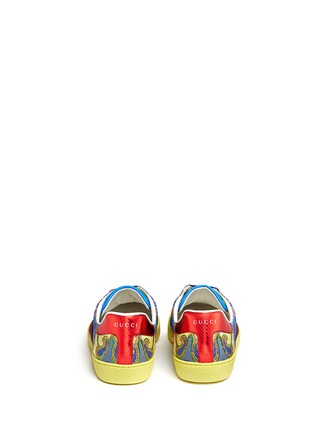 Back View - Click To Enlarge - Gucci - Floral jacquard stripe sneakers