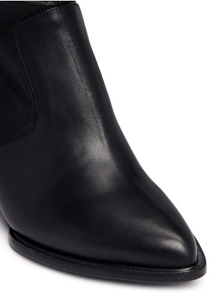 Detail View - Click To Enlarge - Robert Clergerie - 'Oman' wedge leather thigh high boots