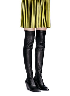 Robert Clergerie 'Oman' wedge leather thigh high boots