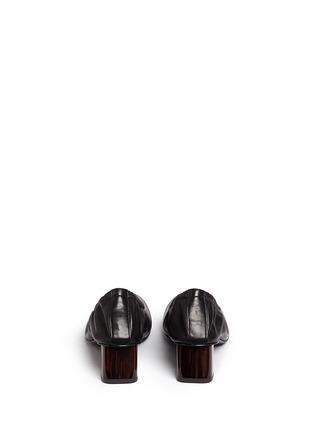 Robert Clergerie-'Poket' wood effect heel lambskin leather pumps