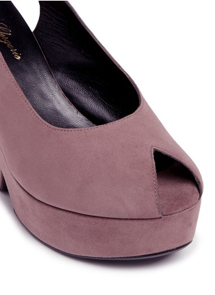 Detail View - Click To Enlarge - Robert Clergerie - 'Dylanl' slingback suede platform wedge sandals