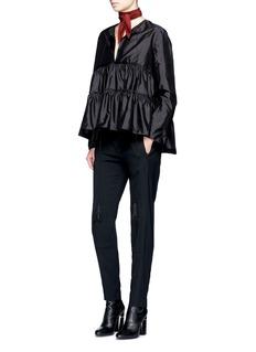 ChloéTassel tie Shantung silk parachute blouse