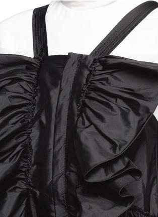 Detail View - Click To Enlarge - Chloé - Ruffle trim silk shantung jumpsuit