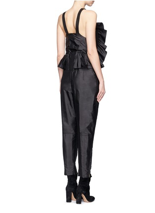 Back View - Click To Enlarge - Chloé - Ruffle trim silk shantung jumpsuit