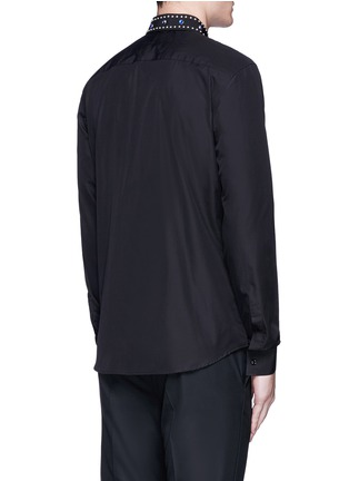 Back View - Click To Enlarge - Givenchy - Embellished collar cotton shirt