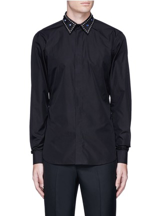 Main View - Click To Enlarge - Givenchy - Embellished collar cotton shirt