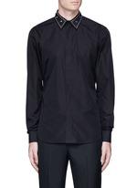 Embellished collar cotton shirt