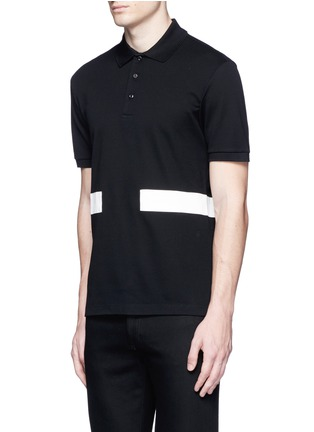 Front View - Click To Enlarge - Givenchy - Contrast band polo shirt