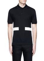 Contrast band polo shirt