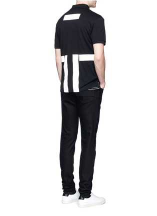 Figure View - Click To Enlarge - Givenchy - Contrast band polo shirt