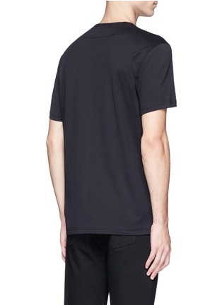 Back View - Click To Enlarge - Givenchy - Logo leather patch T-shirt