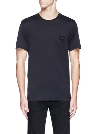 Main View - Click To Enlarge - Givenchy - Logo leather patch T-shirt