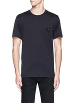 Logo leather patch T-shirt