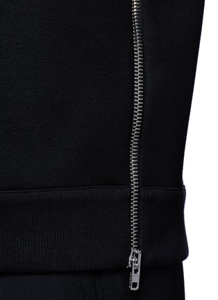Detail View - Click To Enlarge - Givenchy - Zip neoprene sweatshirt