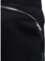 Leg zip bonded jersey sweatpants