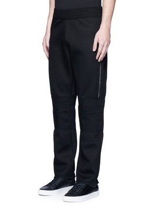 Front View - Click To Enlarge - Givenchy - Leg zip bonded jersey sweatpants