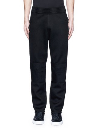 Main View - Click To Enlarge - Givenchy - Leg zip bonded jersey sweatpants