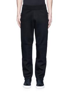 GivenchyLeg zip bonded jersey sweatpants