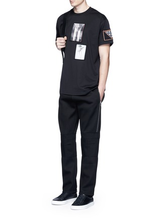 Figure View - Click To Enlarge - Givenchy - Leg zip bonded jersey sweatpants