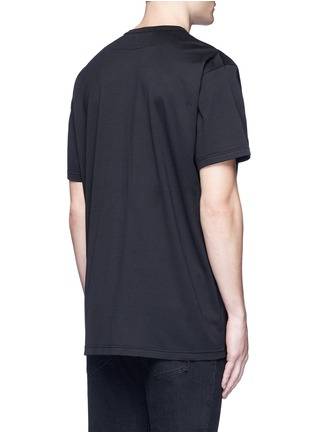 Back View - Click To Enlarge - Givenchy - Cross perforated T-shirt