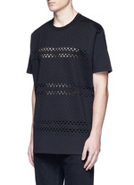Cross perforated T-shirt