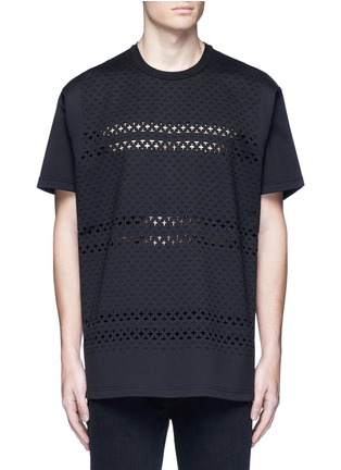 Main View - Click To Enlarge - Givenchy - Cross perforated T-shirt