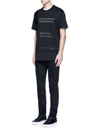 Figure View - Click To Enlarge - Givenchy - Cross perforated T-shirt