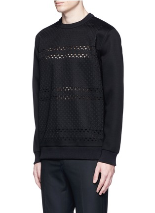 Front View - Click To Enlarge - Givenchy - Cross perforated sweatshirt