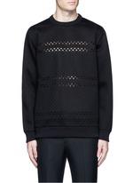 Cross perforated sweatshirt