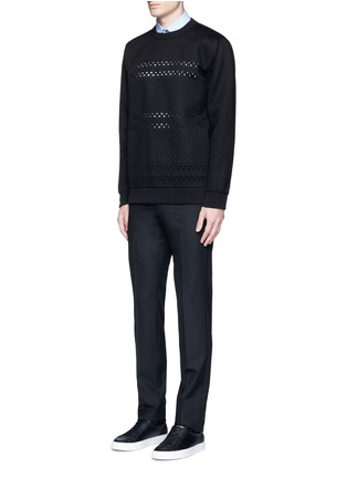 Figure View - Click To Enlarge - Givenchy - Cross perforated sweatshirt