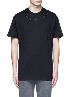 GivenchyBarb wire embroidery T-shirt