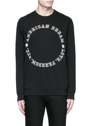 Main View - Click To Enlarge - Givenchy - 'American Dream' embroidery sweatshirt