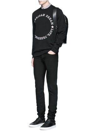 Figure View - Click To Enlarge - Givenchy - 'American Dream' embroidery sweatshirt
