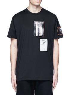 GivenchyAmerican flag print patch T-shirt