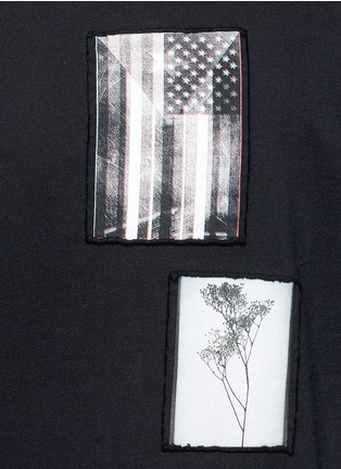 Detail View - Click To Enlarge - Givenchy - Flag patch cotton sweatshirt