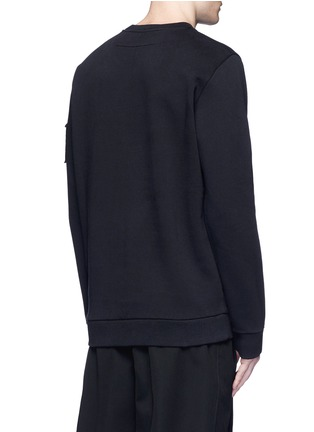 Back View - Click To Enlarge - Givenchy - Flag patch cotton sweatshirt