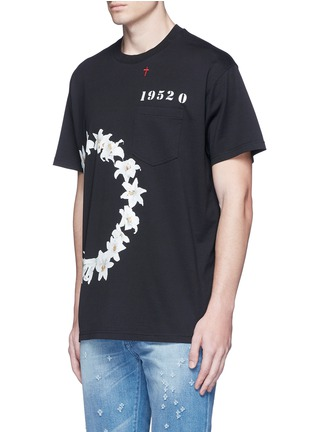 Front View - Click To Enlarge - Givenchy - Columbian fit lily print T-shirt