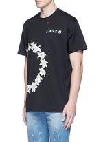 Columbian fit lily print T-shirt