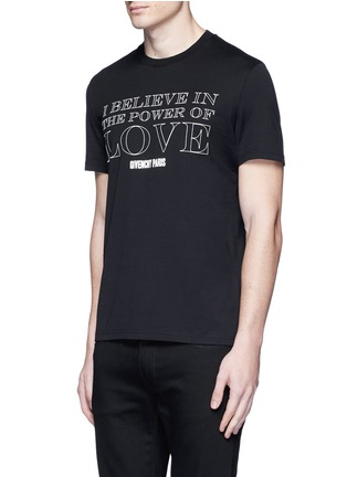 Front View - Click To Enlarge - Givenchy - 'POWER OF LOVE' print T-shirt