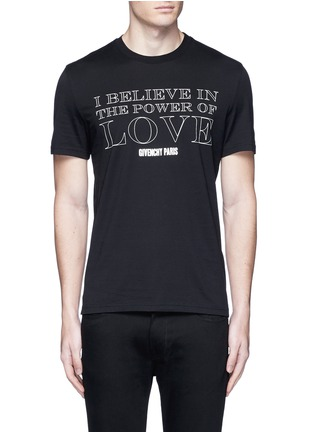 Main View - Click To Enlarge - Givenchy - 'POWER OF LOVE' print T-shirt