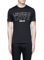 'POWER OF LOVE' print T-shirt