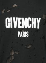 Logo print distressed T-shirt