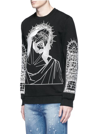 Front View - Click To Enlarge - Givenchy - Abstract Jesus print sweatshirt