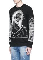 Abstract Jesus print sweatshirt