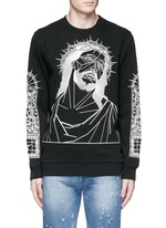 Abstract Jesus print sweatshirt