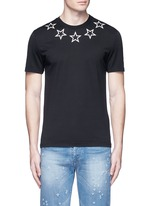 Star print cotton T-shirt