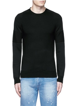 Main View - Click To Enlarge - Givenchy - Star intarsia Merino wool sweater