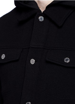 Detail View - Click To Enlarge - Givenchy - Double layer wool hood parka