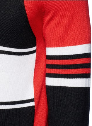 Detail View - Click To Enlarge - Givenchy - Colourblock stripe Merino wool sweater