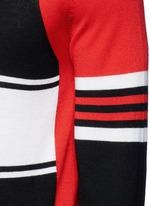 Colourblock stripe Merino wool sweater